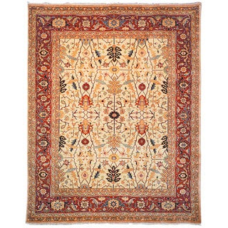 Safavieh Hand-knotted Samarkand Ivory/ Rust Wool Rug (10' x 14')