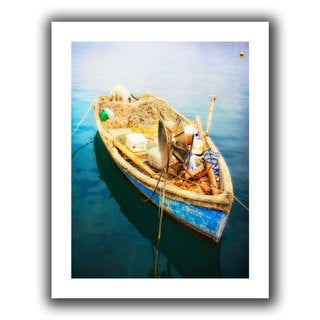 ArtWall Dragos Dumitrascu 'Old Fishermans Boat' Unwrapped Canvas