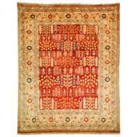 Safavieh Hand-knotted Samarkand Rust/ Camel Wool Rug - 9' x 12'