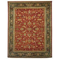 Safavieh Hand-knotted Samarkand Rust/ Navy Wool Rug - 9' x 12'