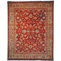 Safavieh Hand-knotted Samarkand Rust/ Light Gold Wool Rug - 9' x 12'