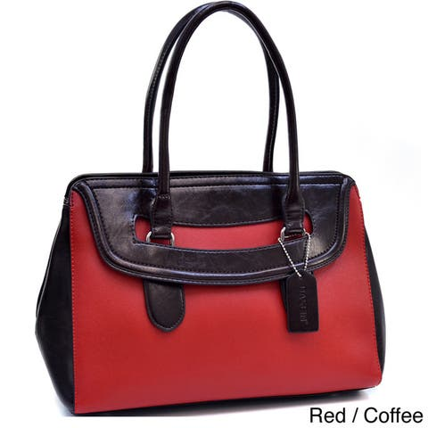 Dasein Two-tone Structured Cut-out Shoulder Bag