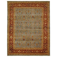 Safavieh Hand-knotted Samarkand Blue/ Red Wool Rug - 6' x 9'