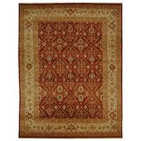 Safavieh Hand-knotted Samarkand Rust/ Ivory Wool Rug - 6' x 9'