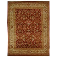 Safavieh Hand-knotted Samarkand Rust/ Ivory Wool Rug - 9' x 12'