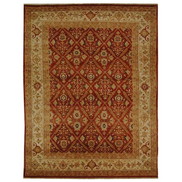Safavieh Hand-knotted Samarkand Rust/ Ivory Wool Rug - 9' x 12'
