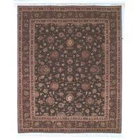 Safavieh Hand-knotted Tabriz Floral Burgundy/ Palm Wool/ Silk Rug - 8' x 10'