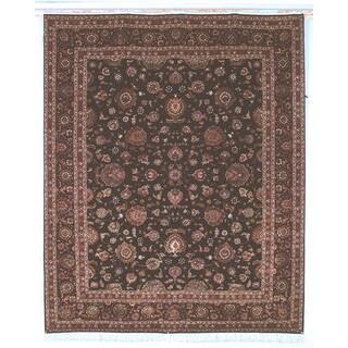 Safavieh Hand-knotted Tabriz Floral Burgundy/ Palm Wool/ Silk Rug (8' x 10')