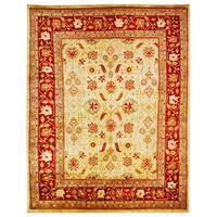 Safavieh Hand-knotted Samarkand Ivory/ Rust Wool Rug - 9' x 12'