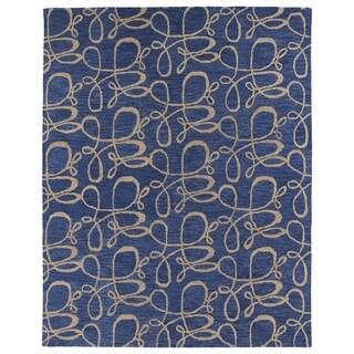 Hand-tufted Zoe Blue Signature Wool Rug (8' x 10')
