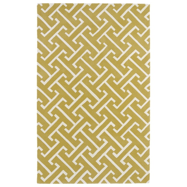 Hand-tufted Cosmopolitan Yellow/ Ivory Wool Rug - 9'6 x 13'