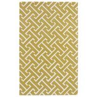 Hand-tufted Cosmopolitan Yellow/ Ivory Wool Rug - 9'6 x 13'