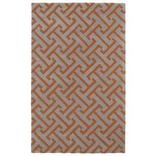 Hand-tufted Cosmopolitan Orange/ Grey Wool Rug (9'6 x 13')
