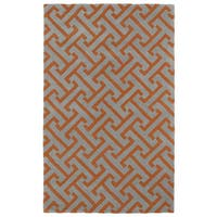 "Hand-tufted Cosmopolitan Orange/ Grey Wool Rug - 9'6"" x 13'"
