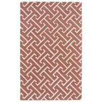 Hand-tufted Cosmopolitan Pink/ Ivory Wool Rug - 8' x 11'