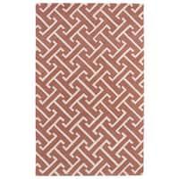 Hand-tufted Cosmopolitan Pink/ Ivory Wool Rug - 9'6 x 13'