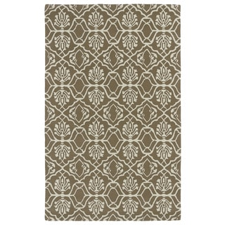 Hand-tufted Runway Light Brown/ Ivory Wool Rug (8' x 11')