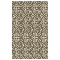 Hand-tufted Runway Light Brown/ Ivory Wool Rug - 9'6 x 13'