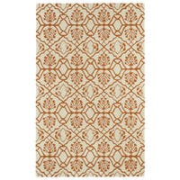 Hand-tufted Runway Orange/ Ivory Wool Rug (8'x11')