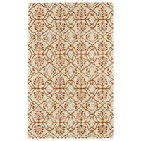 Hand-tufted Runway Orange/ Ivory Wool Rug - 9'6 x 13'