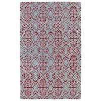 Hand-tufted Runway Pink/ Blue Wool Rug - 9'6 x 13'