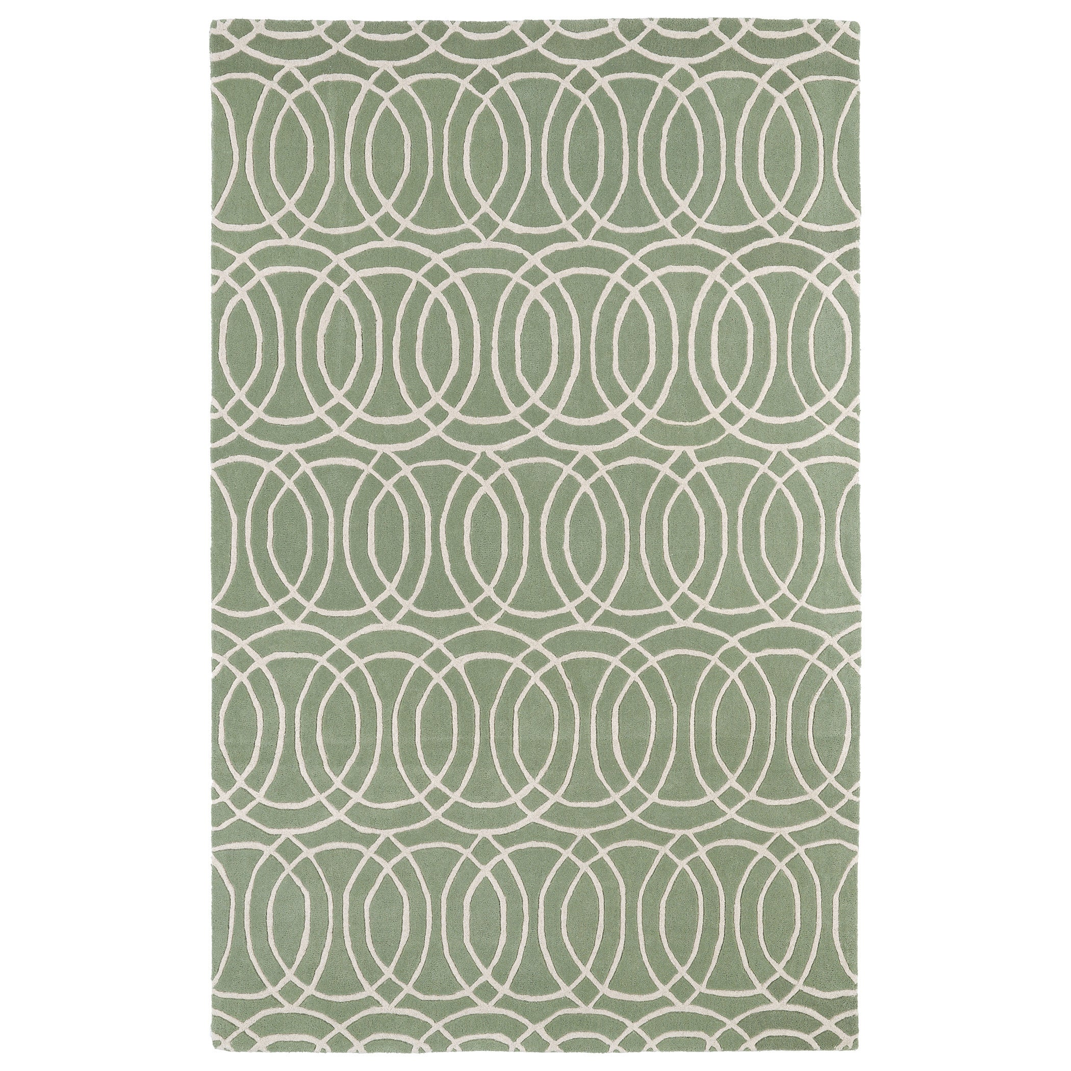 Bombay Home Hand-tufted Cosmopolitan Circles Mint/ Ivory ...