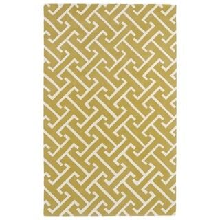 Hand-tufted Cosmopolitan Yellow/ Ivory Wool Rug (2' x 3') - 2' x 3'