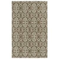 Hand-tufted Runway Light Brown/ Ivory Wool Rug - 2' x 3'