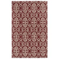 Hand-tufted Runway Berry/ Ivory Wool Rug (2' x 3')