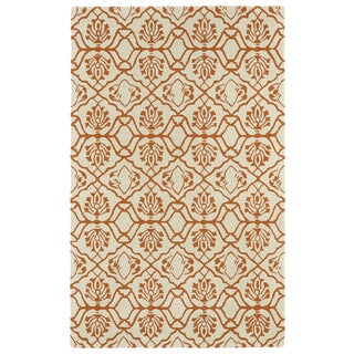 Hand-tufted Runway Orange/ Ivory Wool Rug (5' x 7'9) - 5' x 7'9""
