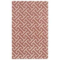 Hand-tufted Cosmopolitan Pink/ Ivory Wool Rug - 3' x 5'