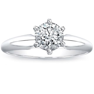 Victoria Kay 14k White Gold 1ct TDW Diamond Solitaire Ring