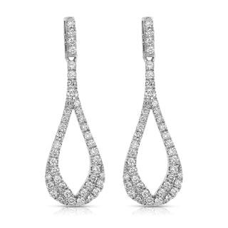 Eloquence 14k White Gold 3/4ct TDW Diamond Teardrop Dangle Earrings (H-I, I1-I2)