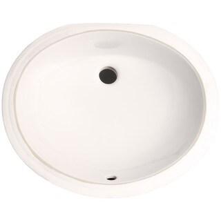 Phoenix White Vitreous Porcelain 17-inch Undermount Bathroom Sink