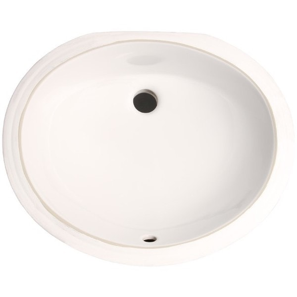 17 inch bathroom sink shop white vitreous porcelain 17 inch undermount 15257