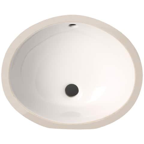 Phoenix White Vitreous Porcelain 15-inch Undermount Bathroom Sink