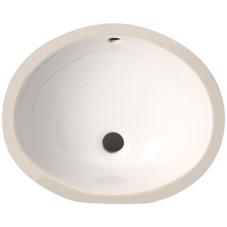 Phoenix White Vitreous Porcelain 15-inch Undermount Bathroom Sink