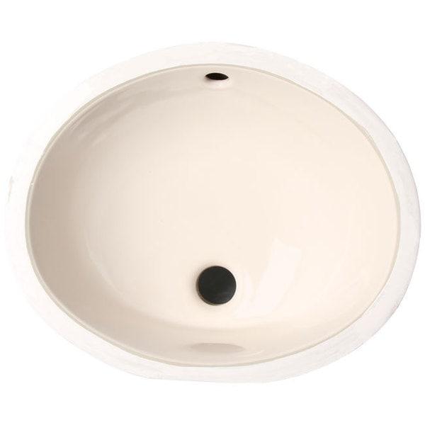 Shop Phoenix Almond Vitreous Porcelain 15-inch Undermount ...