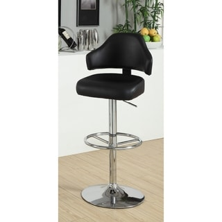 Furniture of America Korzi Curvy Contemporary Adjustable Leatherette Swivel Bar Stool