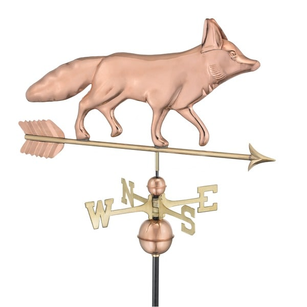 Fox Pure Copper Weathervane by Good Directions