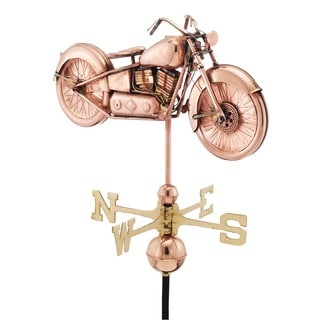 Motorcycle Pure Copper Weathervane by Good Directions