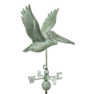 Pelican Blue Verde Copper Weathervane by Good Directions