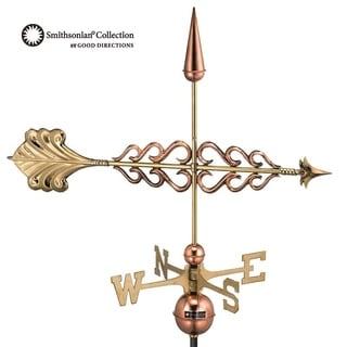 Good Directions Polished Copper Smithsonian Arrow Weathervane