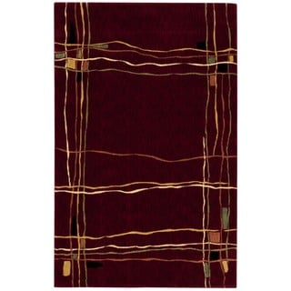 Nourison Parallels Red Rug (3'6 x 5'6)