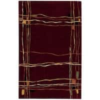 Nourison Parallels Red Rug (3'6 x 5'6) - 3'6 x 5'6