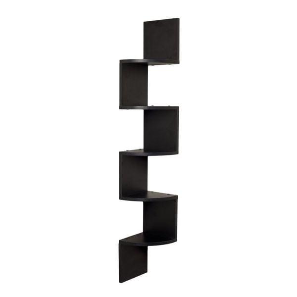Danya B Black Laminate Modern Large Wall-mount Corner Shelf