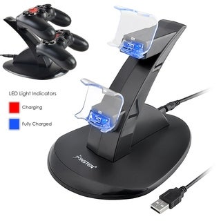 Insten Dual USB Stand Charger for Sony PlayStation 4 (PS4) Controller