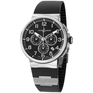 Ulysse Nardin Men's 1503-150-3/62 'Marine Diver' Black Dial Black Rubber Strap Watch|https://ak1.ostkcdn.com/images/products/8858754/Ulysse-Nardin-Mens-1503-150-3-62-Marine-Diver-Black-Dial-Black-Rubber-Strap-Watch-P16086312.jpg?impolicy=medium