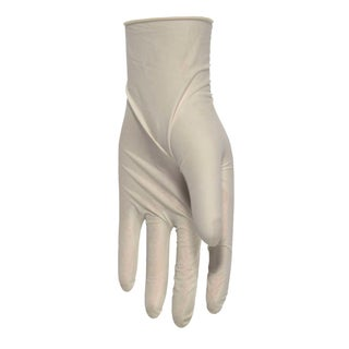 Boss  Latex  Disposable Gloves  One Size Fits All  White  10 pk