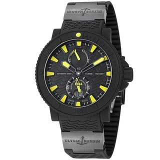 Ulysse Nardin Men's 263-92-3C/924 'Black Sea' Black/Yellow Dial Rubber Strap Watch